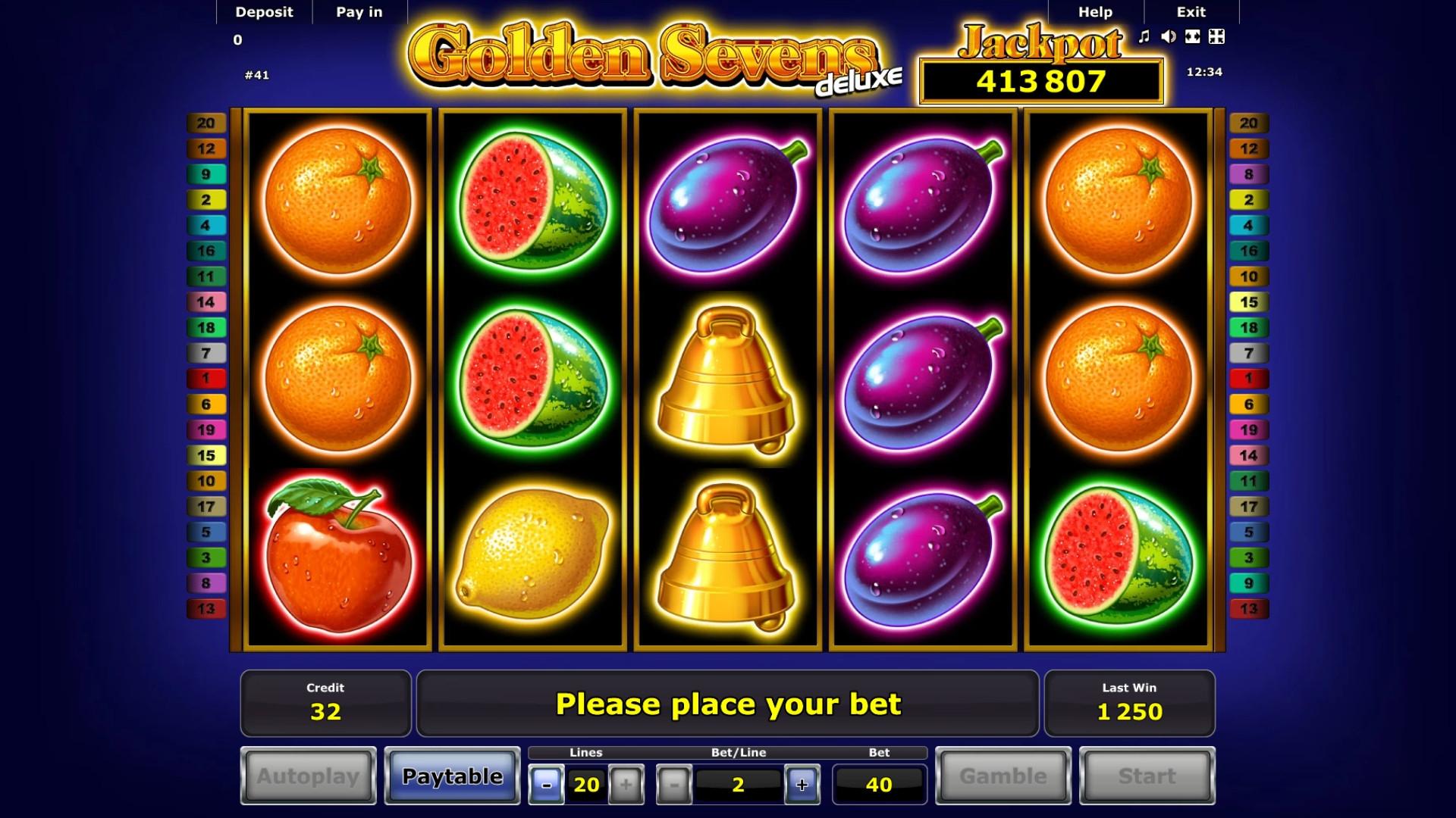 Free Slots Deluxe Novomatic