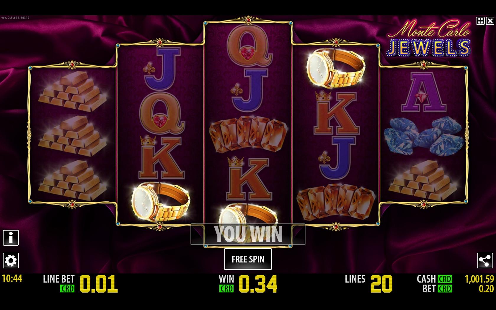 Monte Carlo Jewels Slot Machine