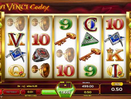 Da Vinci Codex is a 5-reel, 4-row slot in which you can wager between $ and $ across fixed paylines.To adjust total bet values you must set the bet per two lines which goes from $ to $ As soon as a minimum of 3 identical symbols lands on adjacent payline positions, starting from the leftmost reel to right, payouts will be issued.Press Spin to start and stop the reels or.Kütahya