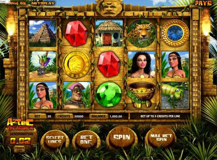 Play GameOSs Aztec treasures slot free!