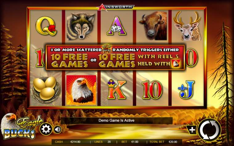 Eagle bucks slot machine online ainsworth Keskin