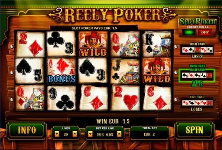 Jul 23, · Reely Poker is a video slot powered by Leander Games and has 5 reels and 30 pay-lines.This slot is inspired by Texas Hold 'Em.Entertaining slot game which fuses two excellent casino games into one.Thee reels are set on .