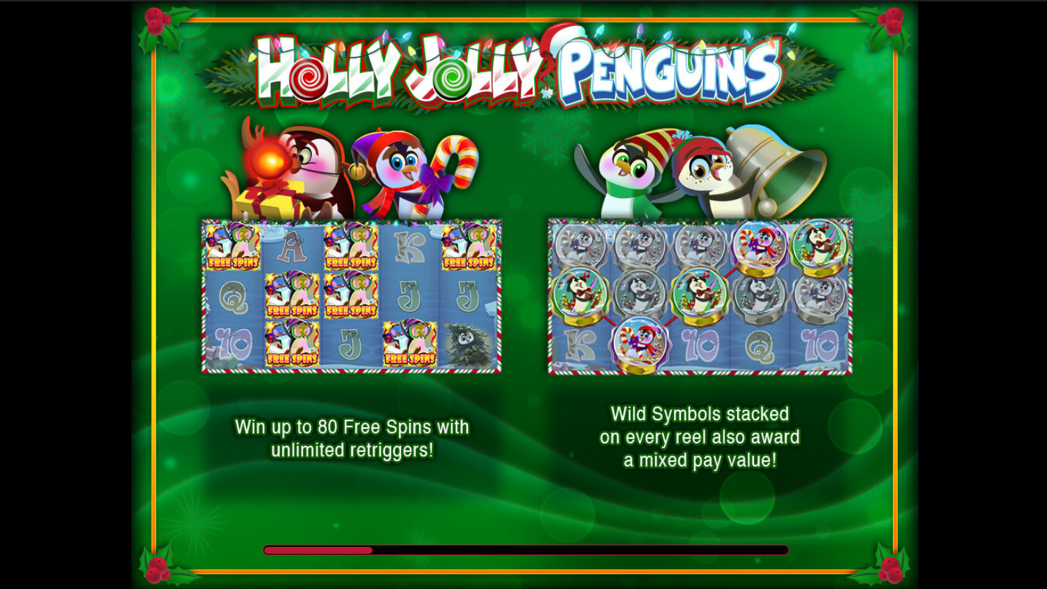 Holly Jolly Penguins slot machine