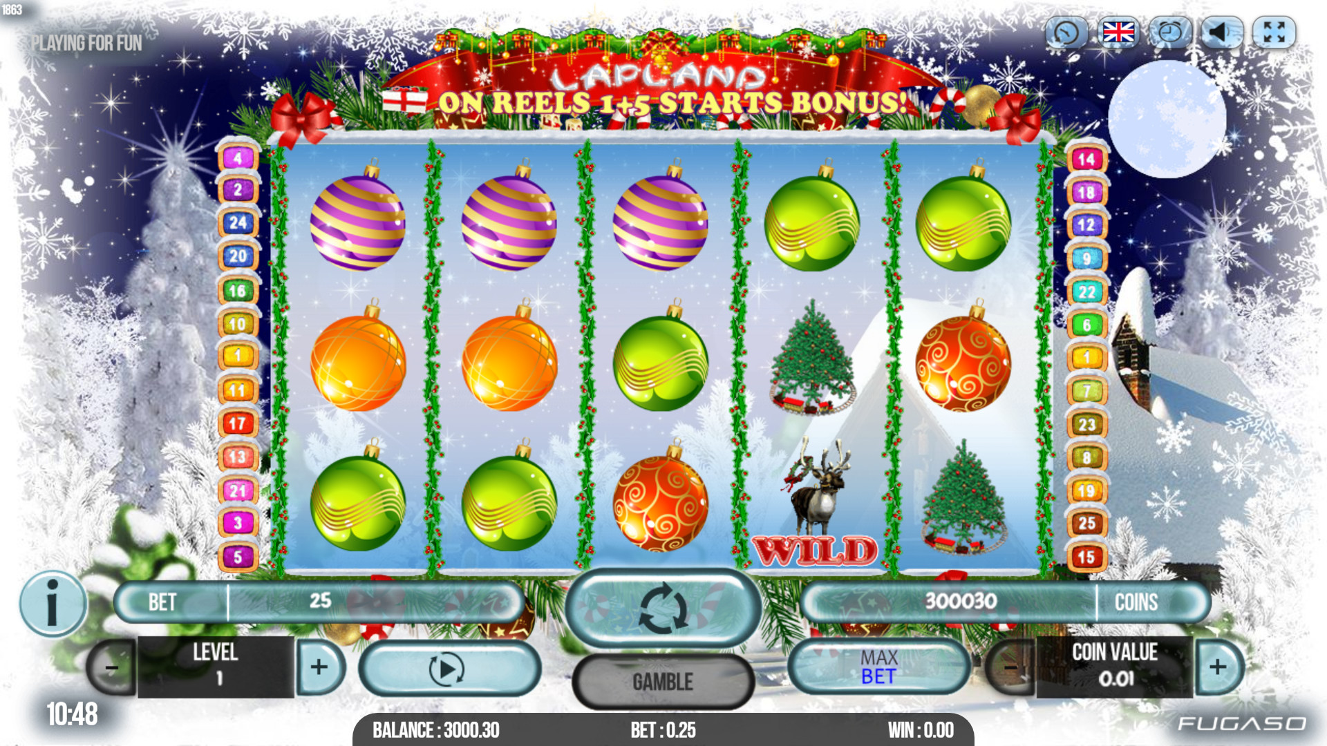 Lapland Fugaso slot machine