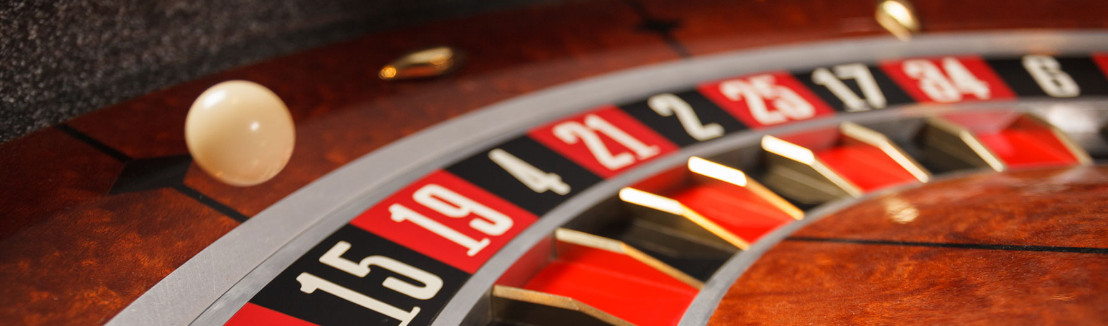 the ball on the roulette wheel