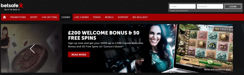 Bonus at BetSafe Casino