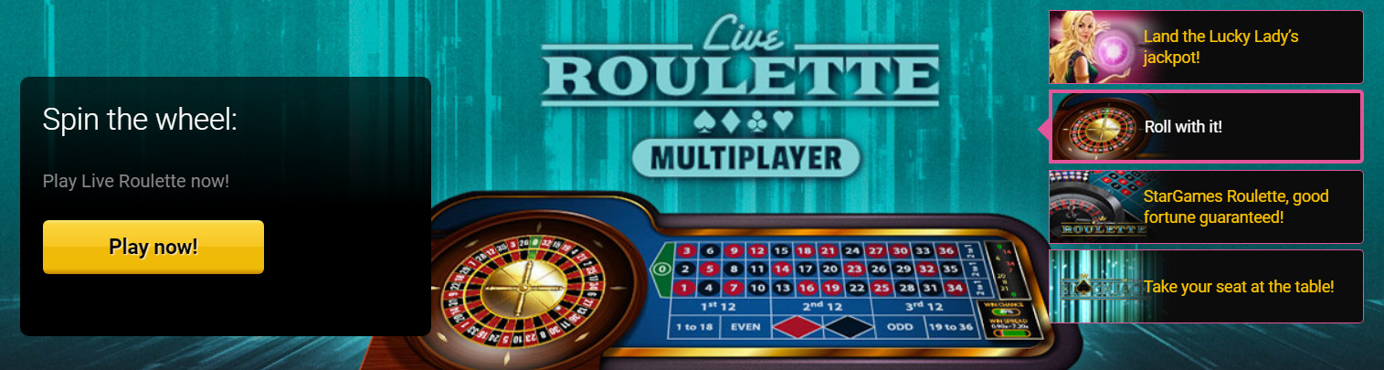 Live roulette bets with dealer