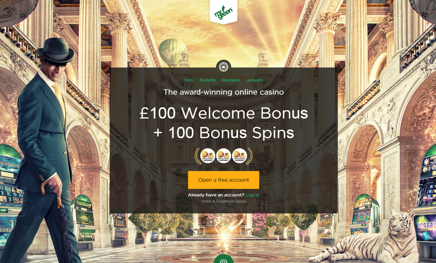 Bonuses at Mr Green Casino