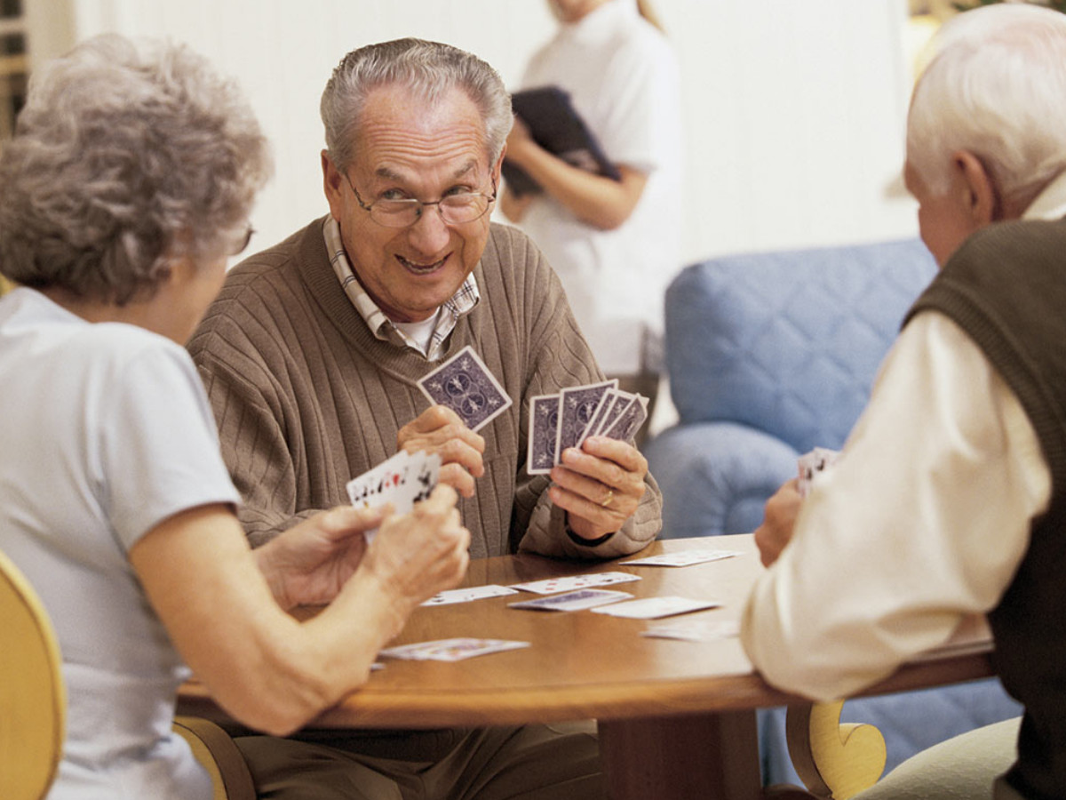 Old People Playing Cards