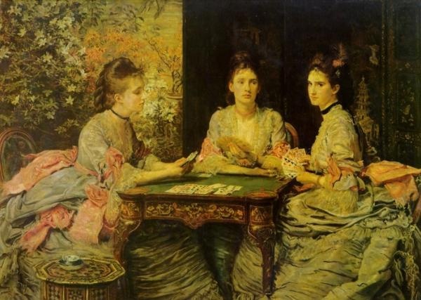 Court of Queen Victoria plays poker