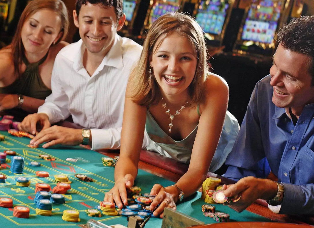 Happy Gamblers Playing Roulette